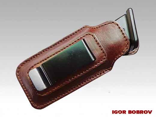 Чехол-пенал для скрытого ношения запасного магазина на металической клипсе