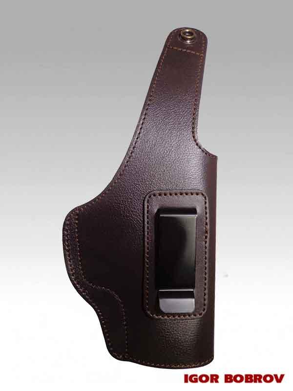 Поясная кобура для SIG Sauer P226 скрытого ношения коричневая кожа